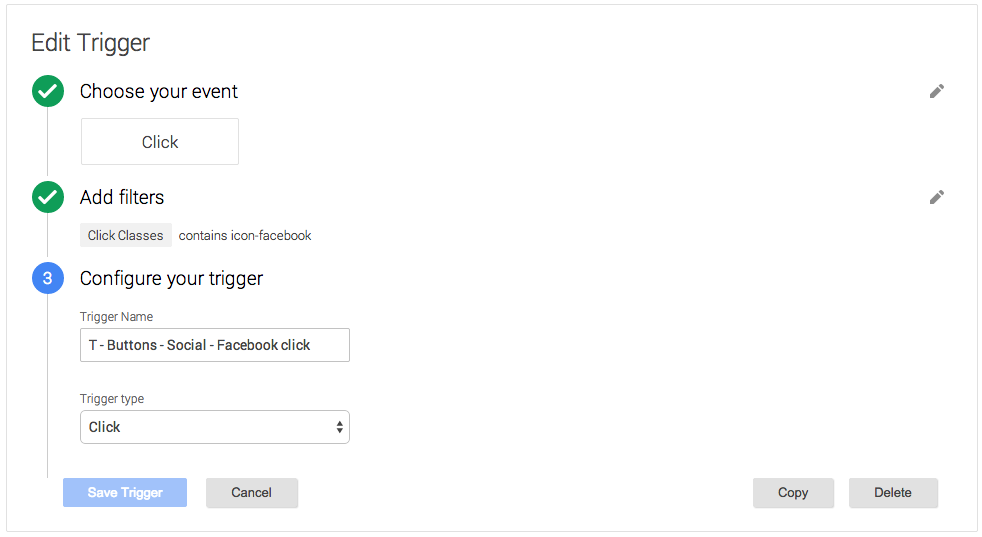 Example of trigger config at Google Tag Manager