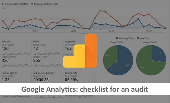 Google Analytics checlist for audit